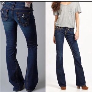 True Religion flare jeans -A